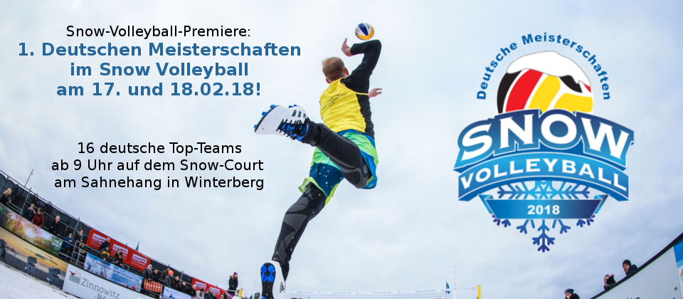 Snow-Volleyball-Premiere: 1. Deutsche Meisterschaft in Winterberg